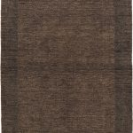Hand-knotted Luribaft Gabbeh Riz Black Wool Rug 4'0″ x 6'0″