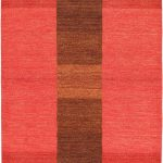 Hand-knotted Luribaft Gabbeh Riz Rose Wool Rug 4'0″ x 6'0″ (1) (1)