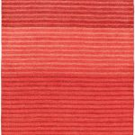Hand-knotted Luribaft Gabbeh Riz Rose Wool Rug 4'0″ x 6'0″ (1)