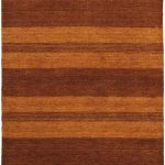 Hand-knotted Luribaft Gabbeh Riz Brown Wool Rug 4'0″ x 6'0″ (1)
