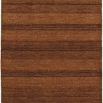 Hand-knotted Luribaft Gabbeh Riz Brown Wool Rug 4'0″ x 6'0″ (3) (6)