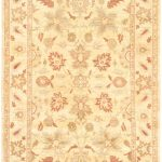 Hand-knotted Chobi Finest Beige Wool Rug 6'3″ x 9'4″