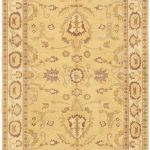 Hand-knotted Chobi Finest Light Gold Wool Rug 5'1″ x 7'7″