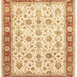 Hand-knotted Jamshidpour Beige Wool Rug 8'0″ x 10'0″