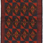 Hand-knotted Kazak Red Wool Rug 3'5″ x 6'2″ (2)