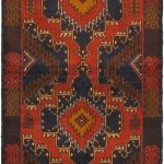 Hand-knotted Kazak Red Wool Rug 3'5″ x 6'6″ (4) (1)