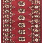 Hand-knotted Finest Peshawar Bokhara Dark Red Wool Rug 2'7″ x 8'1″