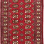 Hand-knotted Finest Peshawar Bokhara Dark Red Wool Rug 3'3″ x 5'2″ (1)