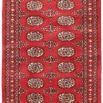 Hand-knotted Finest Peshawar Bokhara Red Wool Rug 2'7″ x 9'10""