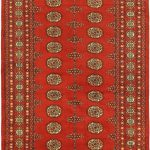 Hand-knotted Finest Peshawar Bokhara Red Wool Rug 4'2″ x 6'5″
