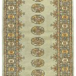 Hand-knotted Finest Peshawar Bokhara Gray Wool Rug 2'6″ x 9'10""