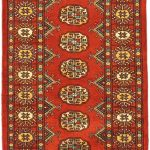 Hand-knotted Finest Peshawar Bokhara Dark Red Wool Rug 2'1″ x 6'3″ (1)
