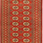 Hand-knotted Finest Peshawar Bokhara Red Wool Rug 3'3″ x 5'0″ (1) (1)