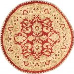 """Hand-knotted Chobi Finest Red Wool Rug 8'10"""" x 8'10"""""""