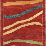 "Hand-knotted Finest Ziegler Chobi Dark Red Wool Rug 2'11"" x 4'10"""