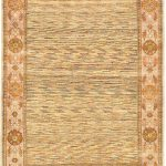 "Hand-knotted Finest Ziegler Chobi Light Yellow Wool Rug 4'10"" x 6'3″"