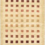 Hand-knotted Finest Ziegler Chobi Light Yellow Wool Rug 4'1″ x 5'10""