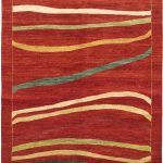Hand-knotted Finest Ziegler Chobi Dark Red Wool Rug 6'4″ x 8'1″