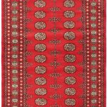 Hand-knotted Finest Peshawar Bokhara Red Wool Rug 4'1″ x 6'2″ (3)