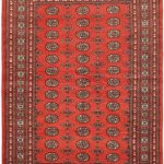 Hand-knotted Finest Peshawar Bokhara Copper Wool Rug 5'7″ x 8'2″
