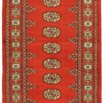 Hand-knotted Finest Peshawar Bokhara Red Wool Rug 2'6″ x 10'1″ (2)