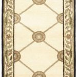 Hand-knotted Opulence Gray Wool Rug 2'6″ x 7'7″