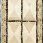 Hand-knotted Opulence Beige Wool Rug 5'8″ x 4'0″