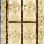Hand-knotted Opulence Cream Wool Rug 4'0″ x 11'5″