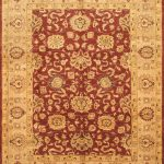 Hand-knotted Chobi Finest Beige, Red Wool Rug 9'0″ x 11'11""