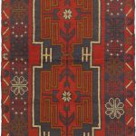 Hand-knotted Herati Red Wool Rug 3'3″ x 6'0″