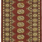 Hand-knotted Finest Peshawar Bokhara Dark Red Wool Rug 2'6″ x 11'8″