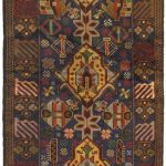 Hand-knotted Rizbaft Brown Wool Rug 2'6″ x 9'4″
