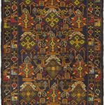 Hand-knotted Royal Balouch Brown Wool Rug 3'0″ x 9'0″