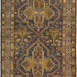 Hand-knotted Finest Rizbaft Green Wool Rug 4'1″ x 6'8″