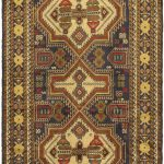 Hand-knotted Finest Rizbaft Brown, Green Wool Rug 3'7″ x 6'7″