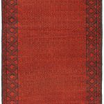 Hand-knotted Herati Red Wool Rug 3'7″ x 6'5″ (1)