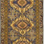 Hand-knotted Finest Rizbaft Brown Wool Rug 3'7″ x 6'8″ (1)