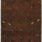 Hand-knotted Finest Rizbaft Brown Wool Rug 3'8″ x 6'1″
