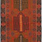 Hand-knotted Bahor Red Wool Rug 3'4″ x 6'0″
