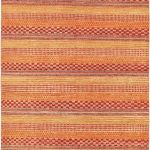 Hand-knotted Finest Ziegler Chobi Orange Wool Rug 5'6″ x 8'5″