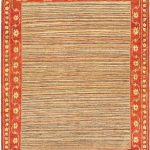 Hand-knotted Finest Ziegler Chobi Orange Wool Rug 5'0″ x 6'4″
