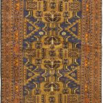 Hand-knotted Finest Rizbaft Brown Wool Rug 3'5″ x 6'3″ (2) (1)