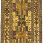 Hand-knotted Finest Rizbaft Brown Wool Rug 3'5″ x 6'1″