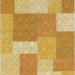 Hand woven Collage Yellow Dhurrie 4'1″ x 6'0″