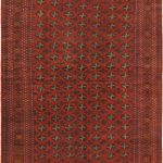 Hand-knotted Royal Balouch Dark Red Wool Rug 6'7″ x 9'8″