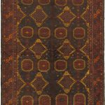 Hand-knotted Royal Balouch Red Wool Rug 5'6″ x 8'5″