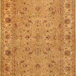 Hand-knotted Jamshidpour Beige Wool Rug 6'2″ x 8'9″