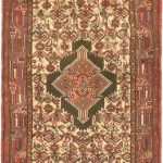 Hand-knotted Darjazin Cream Wool Rug 2'6″ x 8'3″