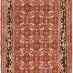 Hand-knotted Roodbar Copper Wool Rug 2'7″ x 9'4″