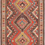 "Hand-knotted Guchan Pink Wool Rug 3'10"" x 6'5″"
